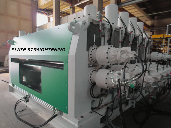 Straightening machine for plates and profiles